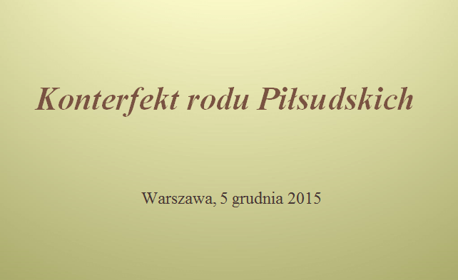 konterfekt rodu piłsudskich